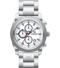 gja-120ss-7sa reloj plateado  blanco/azul aimant jackson