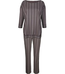 pyjama simone antraciet/zilverkleur