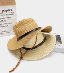 sombrero de paja de la sombrilla del vaquero de la decoración de la correa