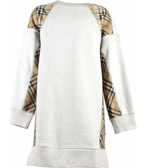 sweatdress with vintage check inserts
