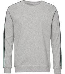 cotton rib melange stelt tape sweat-shirt trui grijs mads nørgaard