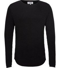 arnold stickad tröja m. rund krage svart just junkies
