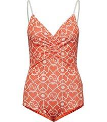solborg bathingsuit badpak badkleding oranje rodebjer