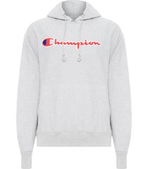 blusa masculina moletom reverse weave pullover hoodie - cinza
