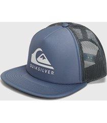 gorra azul-negro-blanco quiksilver trucker quiksilver foamslayer