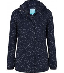 happyrainydays regenjas jacket milou dot midnight off white-l