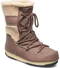 mb monaco wool mid wp shoes boots ankle boots ankle boots flat heel brun moon boot