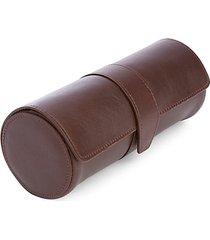 genuine leather triple watch travel roll