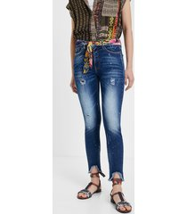 skinny cropped jeans - blue - 34