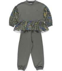 il gufo sweatshirt and pants set
