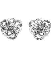 women's lagos 'love knot' sterling silver stud earrings