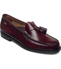 gh weejun ii larkin moc tassel loafers låga skor röd g.h. bass