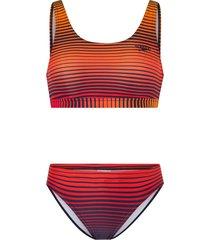bikini summer stripe u-back bikini