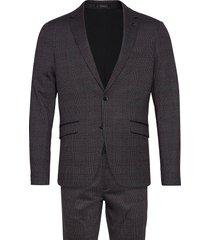 aop checked suit kostym grå lindbergh