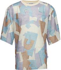 caleb tee - luna t-shirts short-sleeved blå martin asbjørn