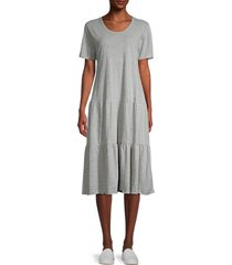 rd style women's tiered t-shirt dress - heather grey - size m