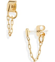 women's madewell bar chain hoop earrings