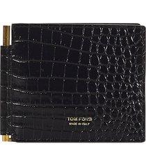 tom ford printed alligator t line money clip wallet