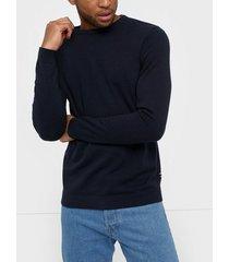 jack & jones jjebasic knit crew neck noos tröjor mörk blå