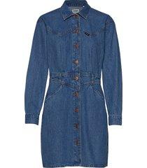80´s dress korte jurk blauw wrangler
