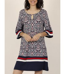 jurk admas navy stijl driekwart mouwen zomerjurk