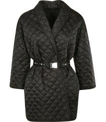 ermanno scervino quilted belted coat