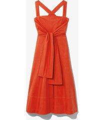 proenza schouler white label poplin apron dress brightorange 8