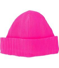 ssheena chunky knit beanie - pink
