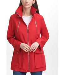 tommy hilfiger women's roll tab anorak coat