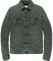 cast iron cdj206100 6027 short jacket colored denim green