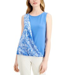 alfani print sash top, created for macy's