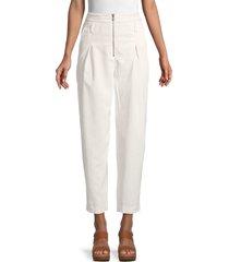 rebecca minkoff women's hadley high-waist corduroy pants - ecru - size 2