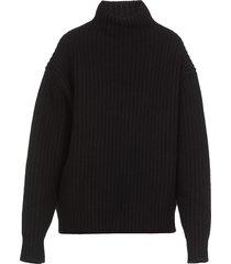 jil sander wool ribbed oversize sweater