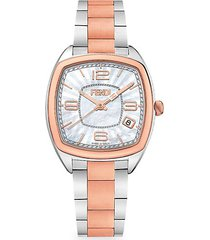 momento two-tone stainless steel bracelet watch