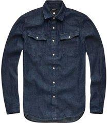 jeans overhemd 3301 dark wash (d12698-d013-082n)