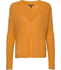 sweaters stickad tröja gul esprit collection