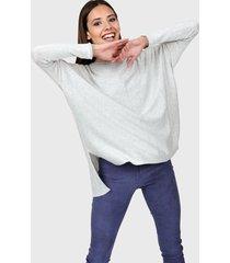 sweater gris claro la cofradía manny
