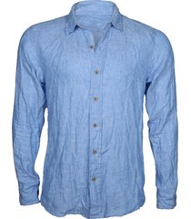 camisa guayabera lino steam dennin mix
