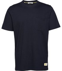 slhgilroy ss o-neck tee w t-shirts short-sleeved blå selected homme