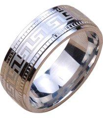 anillo de titanio grabado de moda para hombre