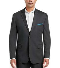 pronto uomo charcoal stripe modern fit suit