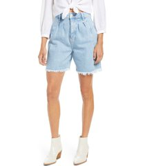 women's free people high waist denim culotte shorts