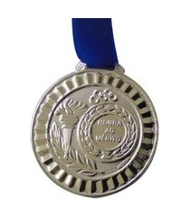 medalha gedeval pequena prata 34mm