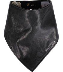 1017 alyx 9sm black leather bandana