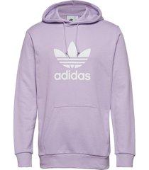 trefoil hoodie hoodie trui paars adidas originals