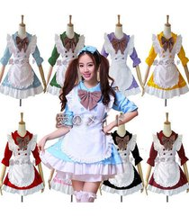new & hot  anime cosplay maid costume lolita french maid babydoll dress uniform