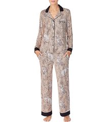 2-piece animal-print pajama set
