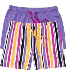 pantaloni pigiama corti (pacco da 2) (viola) - bpc bonprix collection