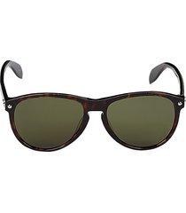 alexander mcqueen women's 55mm oval sunglasses - brown