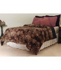 cobertor de casal jurita fleece malha, diversas cores, 210 x 240 cm